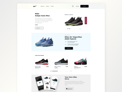 Nike store design shopping nike ux ui store web