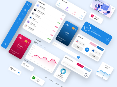 BA Bank UI components online bank finance components financial bank banking web design ux ui