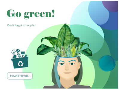 Go green ui illustration