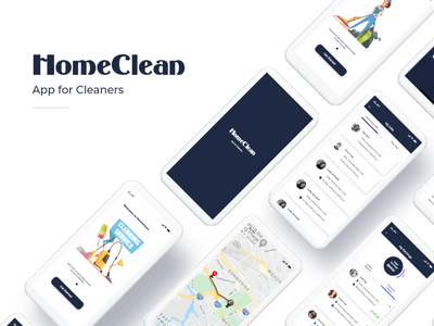 App for Cleaners cleaning app cleaners ux ui mobile app design mobile app mobile design