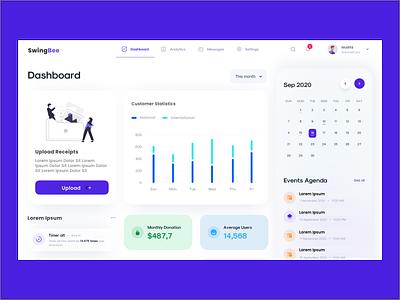 Dashboard website freelance ux ui dashboard