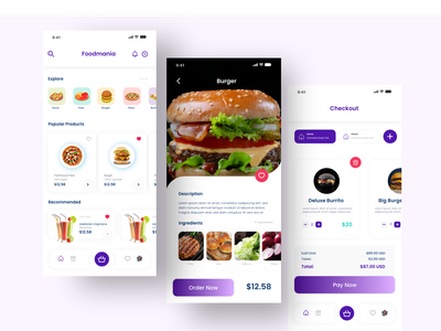 Food Delivery App delivery app food uxdesign uidesign ux ui