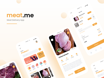 Meat Delivery process uiux ui delivery app delivery meat food
