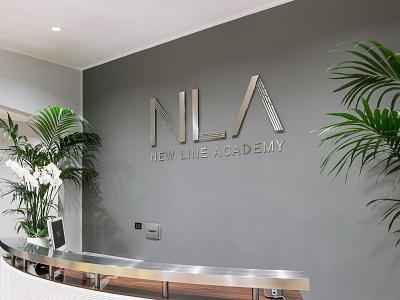 New Line Academy - Entrance Sign school art line academy beauty make-up aesthetics