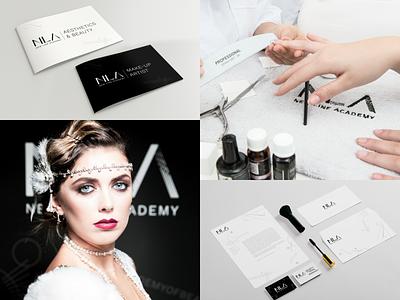 New Line Academy - Visual Identity school art line academy beauty make-up aesthetics
