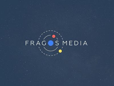 Fragos Media - Logo Restyling gravitational attraction agency target orbit space onlineadvertising moon planet