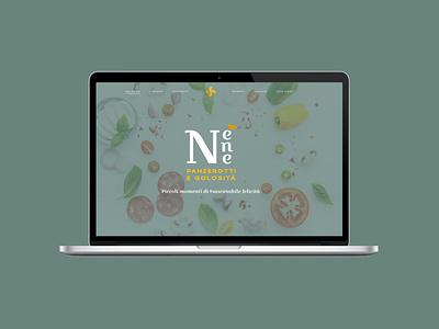 Nenè - Website street food restaurant branding restaurant panzerotto panzerotti italy italian food italian florence
