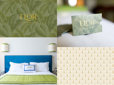 FLOR - Rooms in Florence | Visual Identity english colonial style english colonial style garden botanical florence nature natural hotel branding design brand identity boutique bed and breakfast