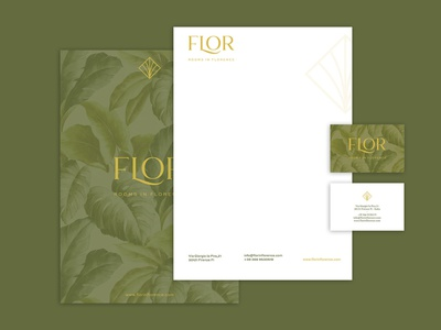 FLOR - Rooms in Florence | Logo Concept english colonial style garden botanical florence nature natural hotel branding design brand identity boutique bed and breakfast
