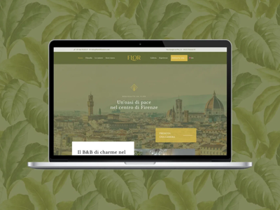 FLOR - Rooms in Florence | Website english colonial style garden botanical florence nature natural hotel branding design brand identity boutique bed and breakfast
