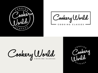 Cookery World - Logo variations