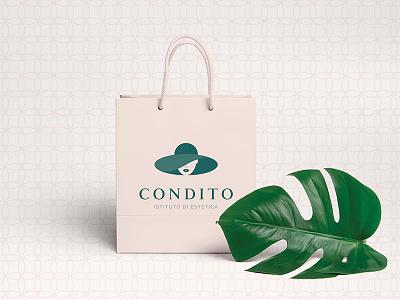 Condito - Branding beauty logo hat infinity shape woman cosmetics body care elegant restyling
