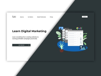 Digital Marketing Site typography graphic design website web ui logo illustration design branding