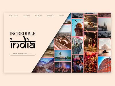 Incredible India! web design typography graphic design web logo illustration design