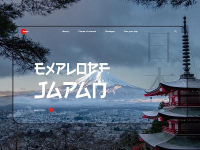Explore the beauty of Japan! webflow ui design mount fuji janapese japan landing page design web web design