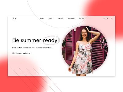 AK- Clothing brand gradient ui gradient glassmorphism summer outfits summer summer fashion fashion woman skirt landing page webflow web design
