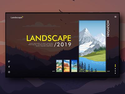 UI Concept - Landscape Illustration Design illustration ux sketch figma ui design ui design app adobexd