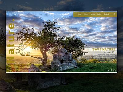 UI Concept - Nature ui design ux figmadesign sketch figma adobexd adobe xd ui design app