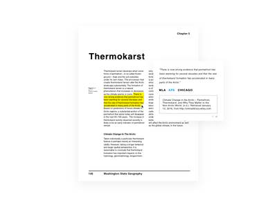 Daily UI Challenge #010 editorial layout book citation bibliography share flat pdf ui dailyui textbook minimalist