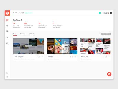 TINT Dashboard Screen