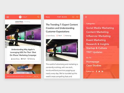 Mobile Blog UI