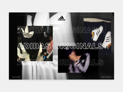 Design Exploration sauce glitch modern brutalism outlined text overlapping photography fashion adidas originals adidas