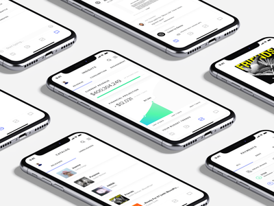 Mobile app for the business of music management product design iphone x catalog music finance data icons light ui mobile mobile app