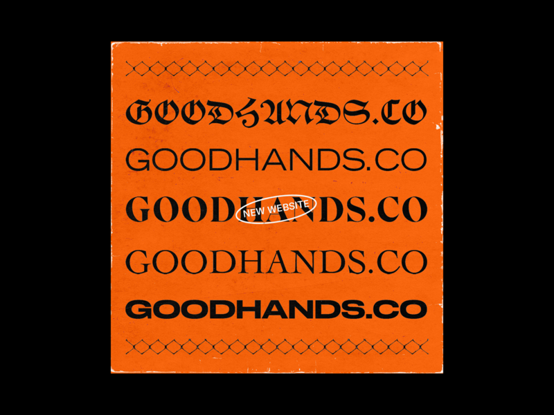 GOODHANDS.CO 2.0 agency branding agency album artwork album cover art graphic  design minimal cover art texture brutalist album cover brutalism