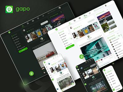 Gapo - Redesign newsfeed web design company social networking app ui ux design agency app design mobile app design web design ux ui design software development designveloper