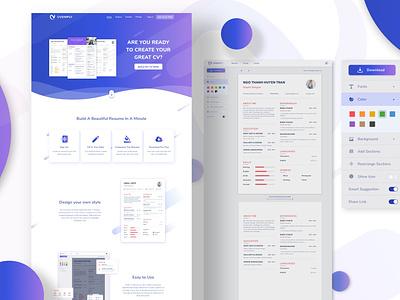 CV Simply - Web application - Productivity cv online builder cv simply design agency ui ux design company app design mobile app design web design ux ui design software development designveloper