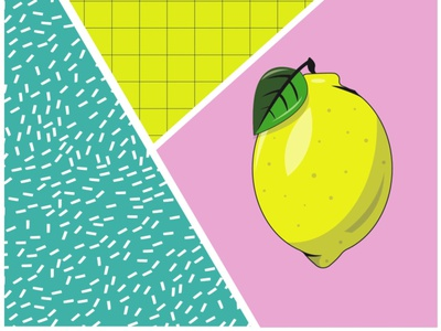 Lemon juice digital vector illustration dribbble color design dribbbleweeklywarmup digitalart photoshop paint painting illustrator illustraion
