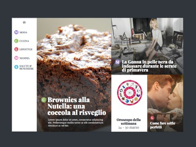 Featured Island web website news article articles photo large photo headline masonry grid menu navigation