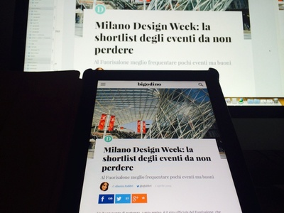 From Sketch To Device tablet ipad article news device clean ui webdesign web web design