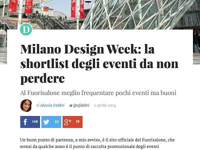 Retina Article Header article header typeface heading blog post social share social buttons