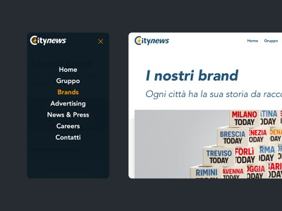 Citynews Website typography flat clean webdesign web website