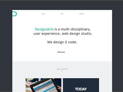 Designabile New Homepage website webdesign web design homepage home minimal clean typography