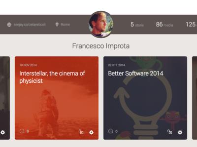 User Profile profile user avatar stats ui flat clean dashboard web interface
