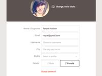 Edit Profile Form