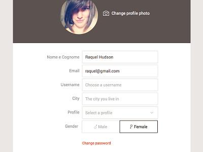 Edit Profile Form web design form ui interface edit profile profile avatar