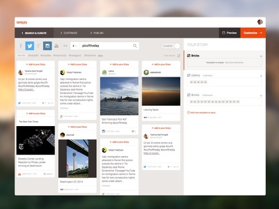Creating a Story design ui interface web app clean editor