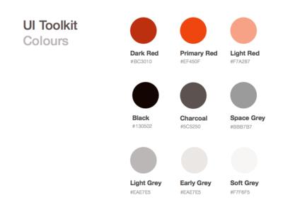 Colors Palette ui colours colors palette toolkit style guide web elements design system