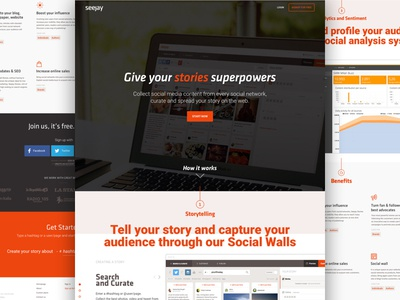 Seejay Homepage website homepage web design interface home one page