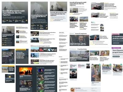 News Blocks Element Collage responsive collage element collage news web design webdesign website
