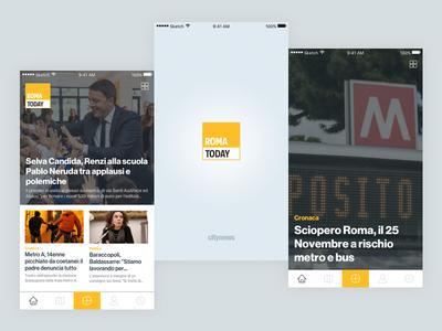 RomaToday Mobile App clean ios news app mobile