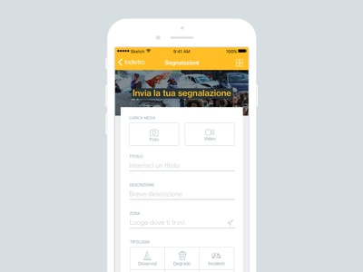 Mobile App Form ui minimal mobile app form