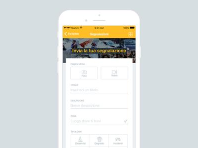 Mobile App Form ui minimal mobile app form