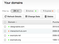 Domain tracking