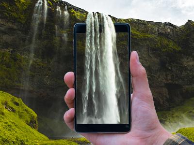 Waterfalls waterfalls device photo montage photo manipulation photo