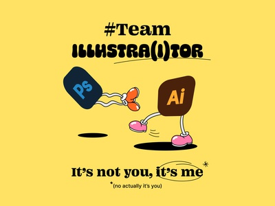 Team Illustra(i)tor typography vector art vector illustrator illustration