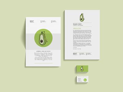 avocado & grill logodesign logo branding corporate design vector printdesign pogopixel mannheim illustrator heidelberg design